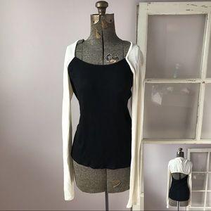 NWT Aiko Raglan Long Sleeve Top with Open Back